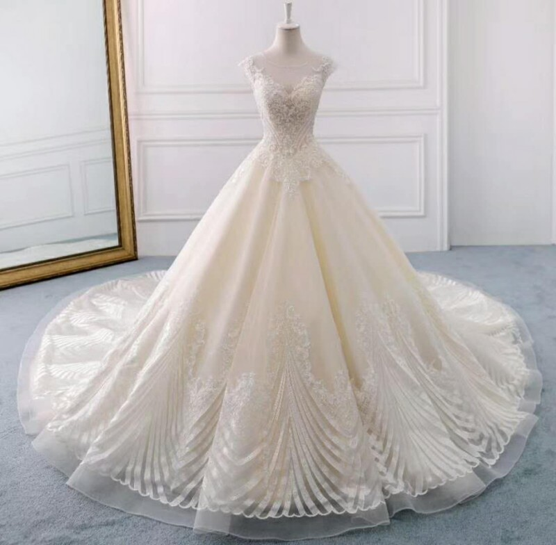 Beautiful White Wedding Dress 2018 Lace Ball Gowns Wedding Dresses ...