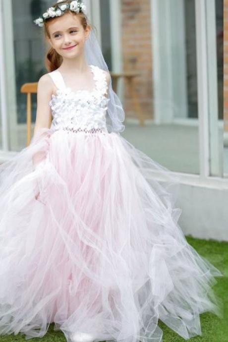 Ball Gown Flower Girl Dresses for Weddings - Luulla